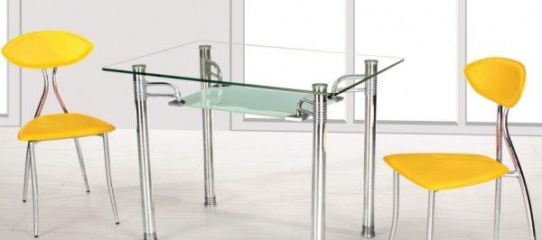 Ніжки для скляних столів: різновиди та особливості вибору