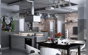 Кухня в стилі лофт — «горищний інтер'єр» у вашому домі