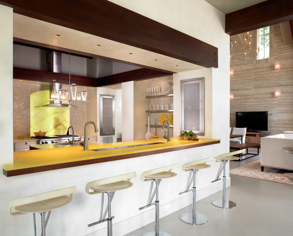 Дизайн інтер'єру кухні в стилі модерн — суворий, але яскравий