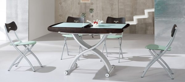 Сучасні столи-трансформери: оригінальні ідеї і практичний дизайн
