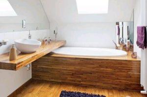 Дерево у ванній кімнаті – ексклюзив, мода, традиції