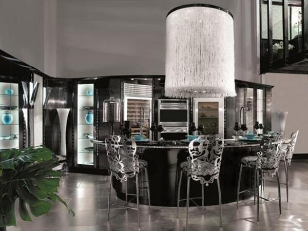 Розкішний і елегантний інтер'єр кухні в стилі арт деко