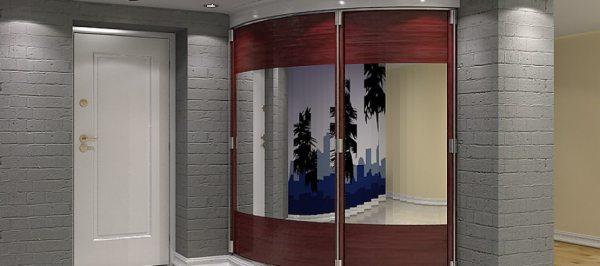 Радіусні шафи в передпокої – незвичайний дизайн і відмінна місткість