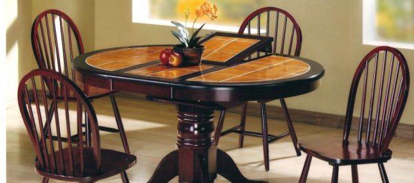 Кухонні столи з керамічною плиткою, їх конструкція та особливості