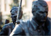 Міністр оборони Росії Сергій Шойгу відкрив скульптурну композицію «Вони билися за Батьківщину»